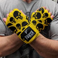 "Forza Sports 180"" Mexican Style Boxing and MMA Handwraps - Skulls Yellow"