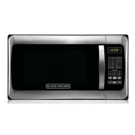 Black+Decker EM031MGG-X1 1.1-Cubic Foot Microwave, Stainless (Coca Cola 1-7 Cubic Foot Mini Fridge)
