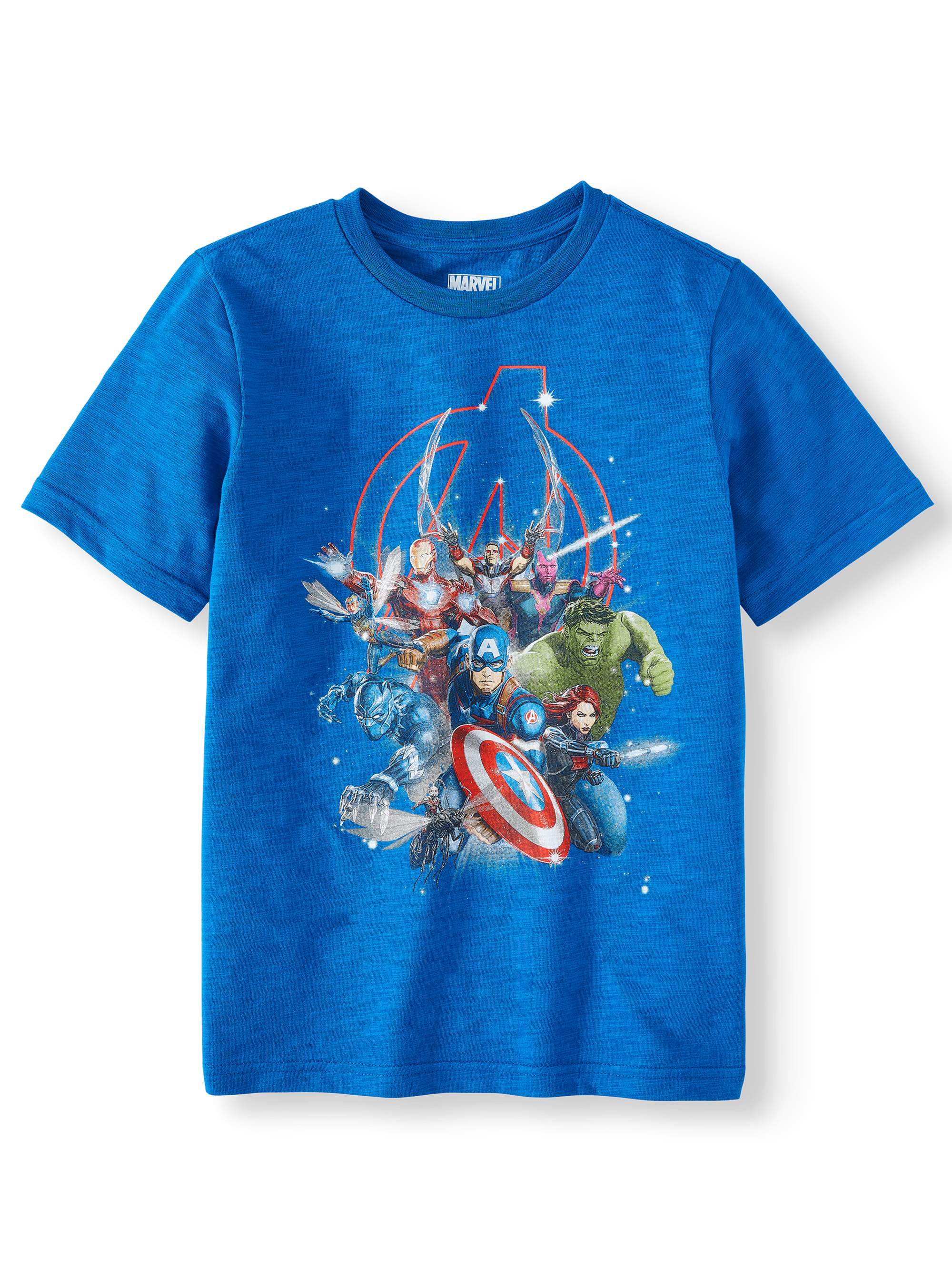 "Boys Marvel ""Avengers Cluster"" Short Sleeve Tee (Little Boys & Big Boys)"