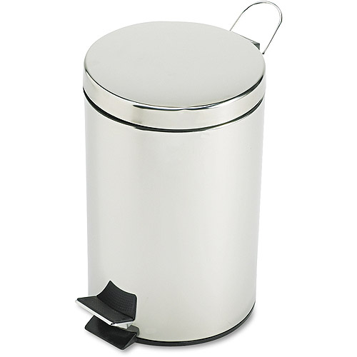 Rubbermaid Commercial Economical Round Stainless Steel Step Can, 3.5 gal