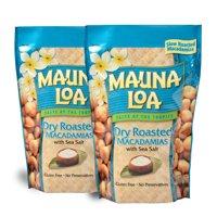 Mauna Loa Dry Roasted Macadamia Nuts with Sea Salt, 10 oz. - 2 PACK