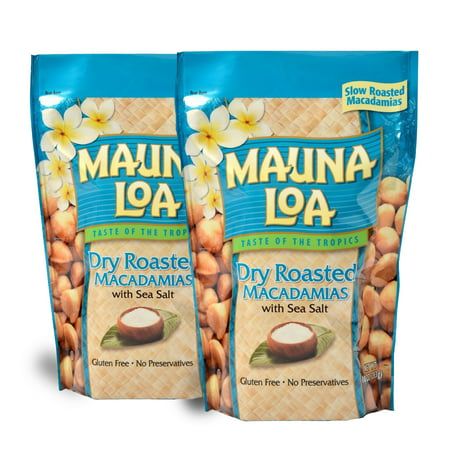 Mauna Loa Dry Roasted Macadamia Nuts with Sea Salt, 10 oz. - 2 PACK