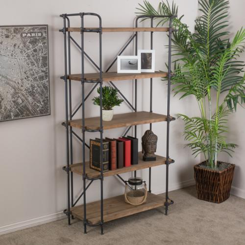 Christopher Knight Home Yorktown 5-Shelf Industrial Etagere Bookcase by by Overstock
