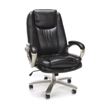 Essentials by OFM ESS-201 Big and Tall Leather Executive Office Chair with Arms,