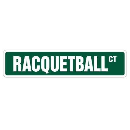Player Street Sign - RACQUETBALL Street Sign racquet player ball court club | Indoor/Outdoor |  24