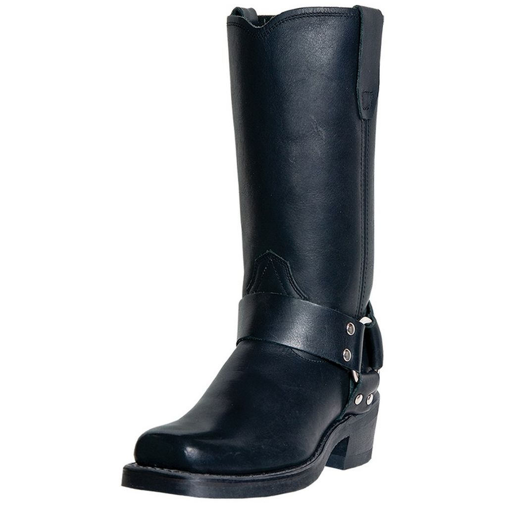 Dingo Motorcycle Boots Womens Molly Leather Harness Black DI07370 by Dingo