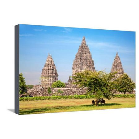 Hindu Temple Prambanan. Indonesia, Java, Yogyakarta Stretched Canvas ...