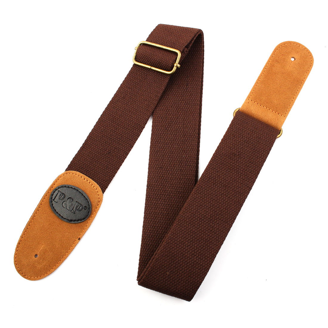 Nylon Vintage Style Electric Classic Acoustic Guitar Bass Strap Belt String Brown