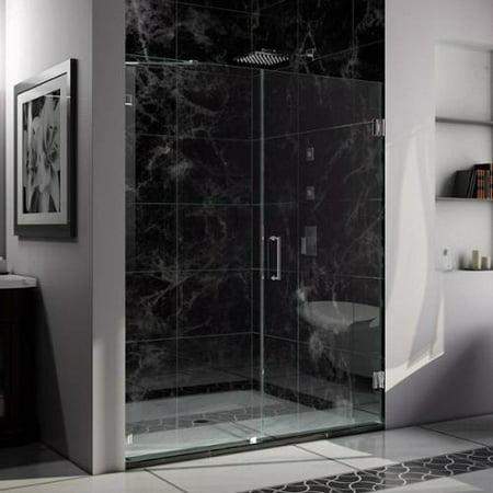 Dreamline Unidoor Lux 53 56 In Frameless Hinged Shower Door Non