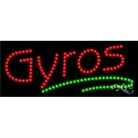 Gyros Led Sign  High Impact  Energy Efficient