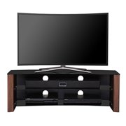 FITUEYES 3-tier 51 Inch Wood Tv Stand for up to 58 Inch Flat Screen Curved Tvs Wood Storage Cabinet TS313002WW