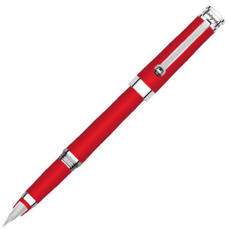 - Montegrappa Parola Red Resin with Chrome Trim Medium Point Fountain Pen - ISW...