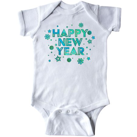 Inktastic Happy New Year Infant Creeper Years Celebrate 2017 Party Green Future