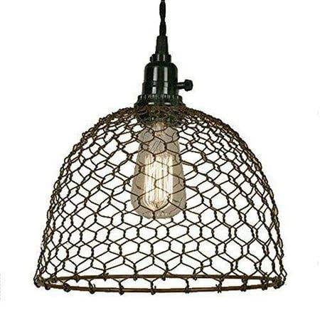 Chicken Wire Dome Pendant Light Dome Pendant Light Fixture