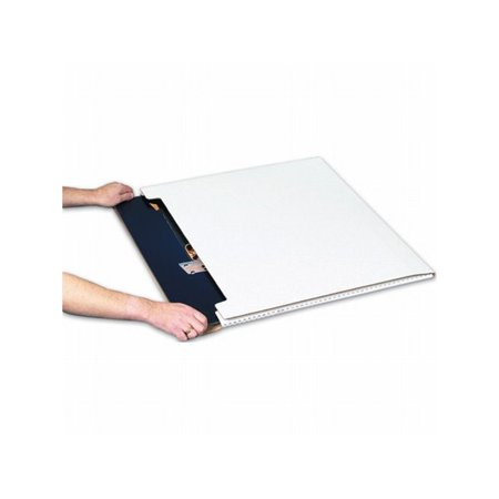Box Packaging White Jumbo Fold-Over Mailer, 20/bundle