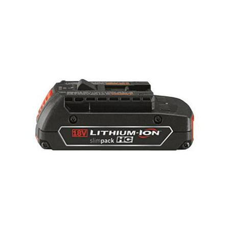 Bosch BAT610G 18-Volt 1.5Ah Li-Ion Slim Pack Battery with Fuel Gauge (Bosch Radio With Battery)