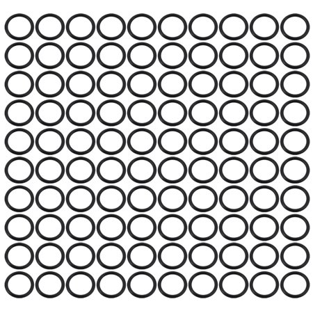 100pcs Black 13mm Outer Dia 1.5mm Thickness Sealing Ring O-shape Rubber Grommet - image 2 of 2