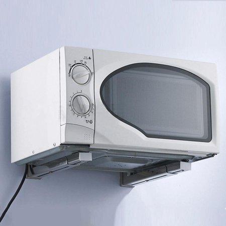 Foldable Stretch Microwave Shelf Rack Kitchen Wall Mounted Bracket HFON