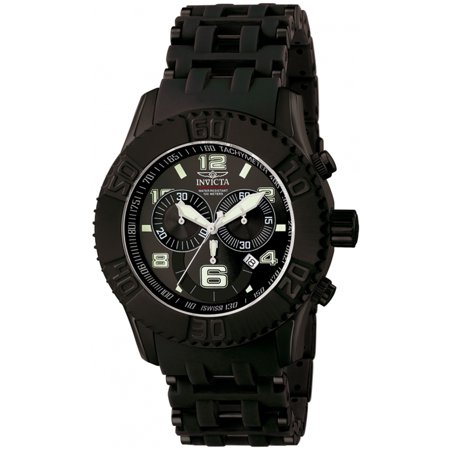 Invicta Men's 6713 Sea Spider Collection Chronograph Black Ion-Plated SS Watch Chronograph Ss Case