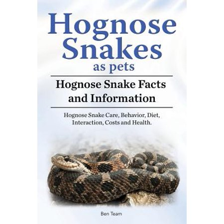 Hognose Snakes as Pets. Hognose Snake Facts and Information. Hognose Snake Care, Behavior, Diet, Interaction, Costs and Health.