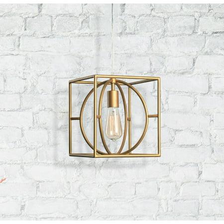 Kenroy Home Adele Gold 1 Light Swag Pendant (Kenroy Home Cylinder)