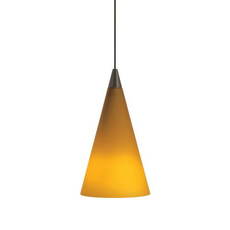 Tech Lighting 700MOCONA MonoRail Amber Glass Cone Pendant
