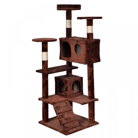 BestPet Brown Cat Tree Tower Condo Furniture Scratch Post Kitty Pet