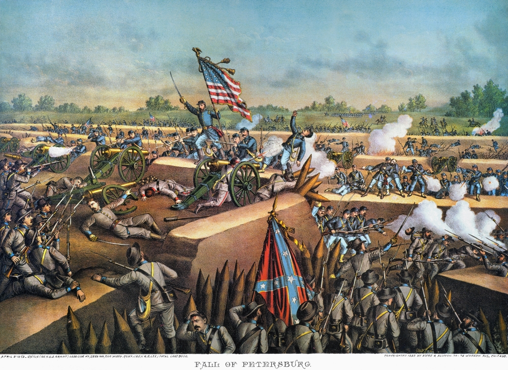 Civil War: Petersburg, 1864. /Nunion Army Troops In A