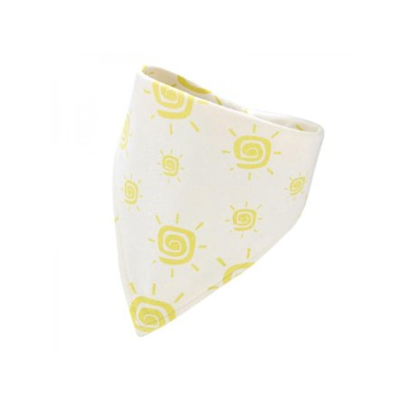 Lavaport Double Layers Cotton Baby Bibs Triangle Cartoon Pattern