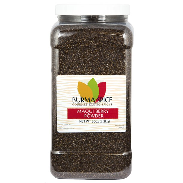 Burma Spice Maqui Berry Powder Superfood With Antioxidants