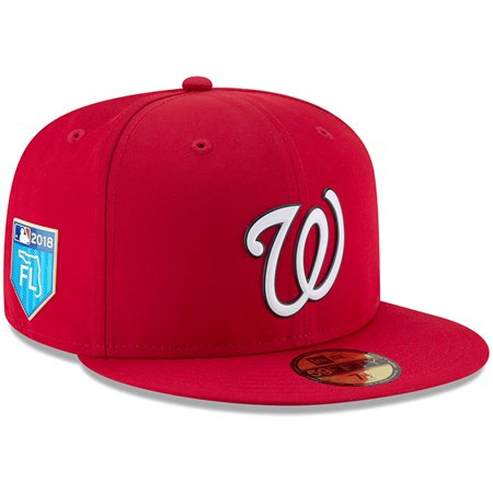 Washington Nationals New Era 2018 Spring Training Collection Prolight 59FIFTY Fitted Hat - Red