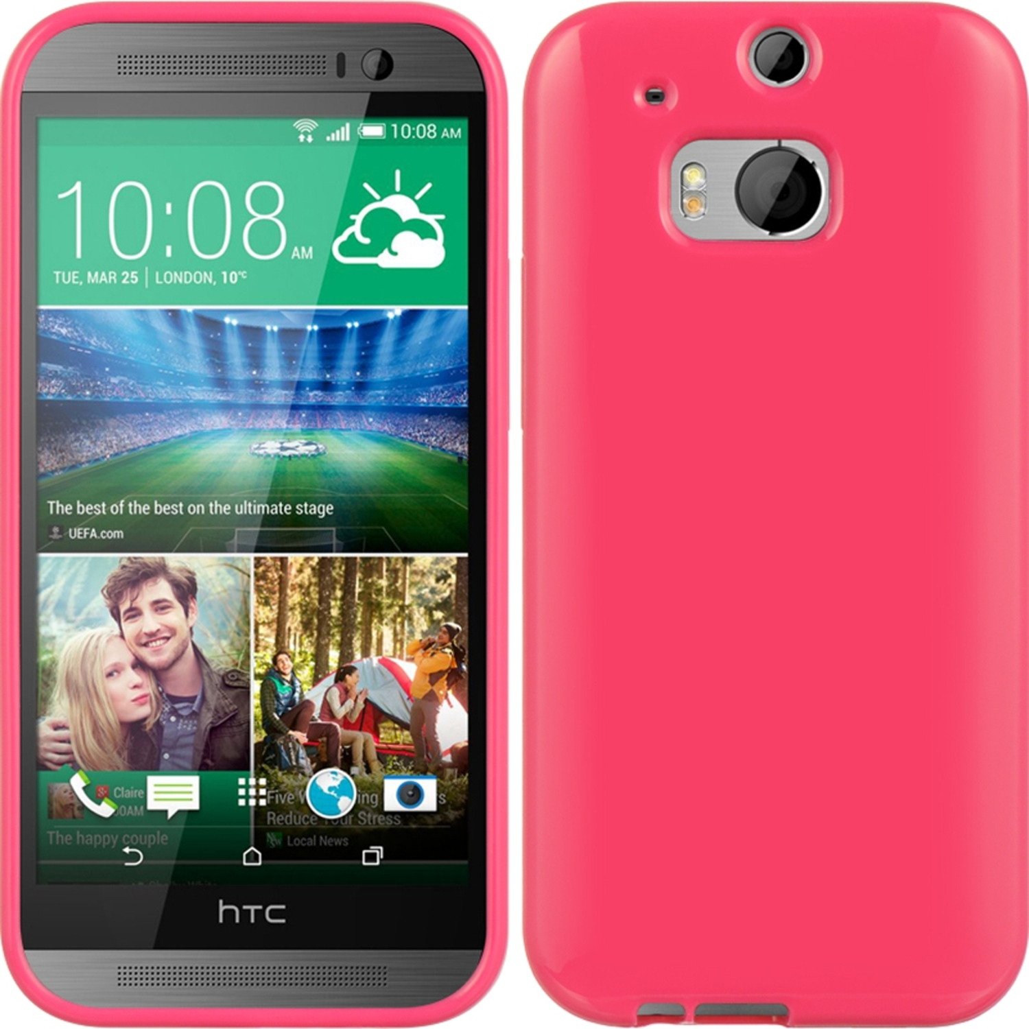 HTC One M8 Case, by Insten TPU Rubber Candy Skin Case Cover For HTC One M8
