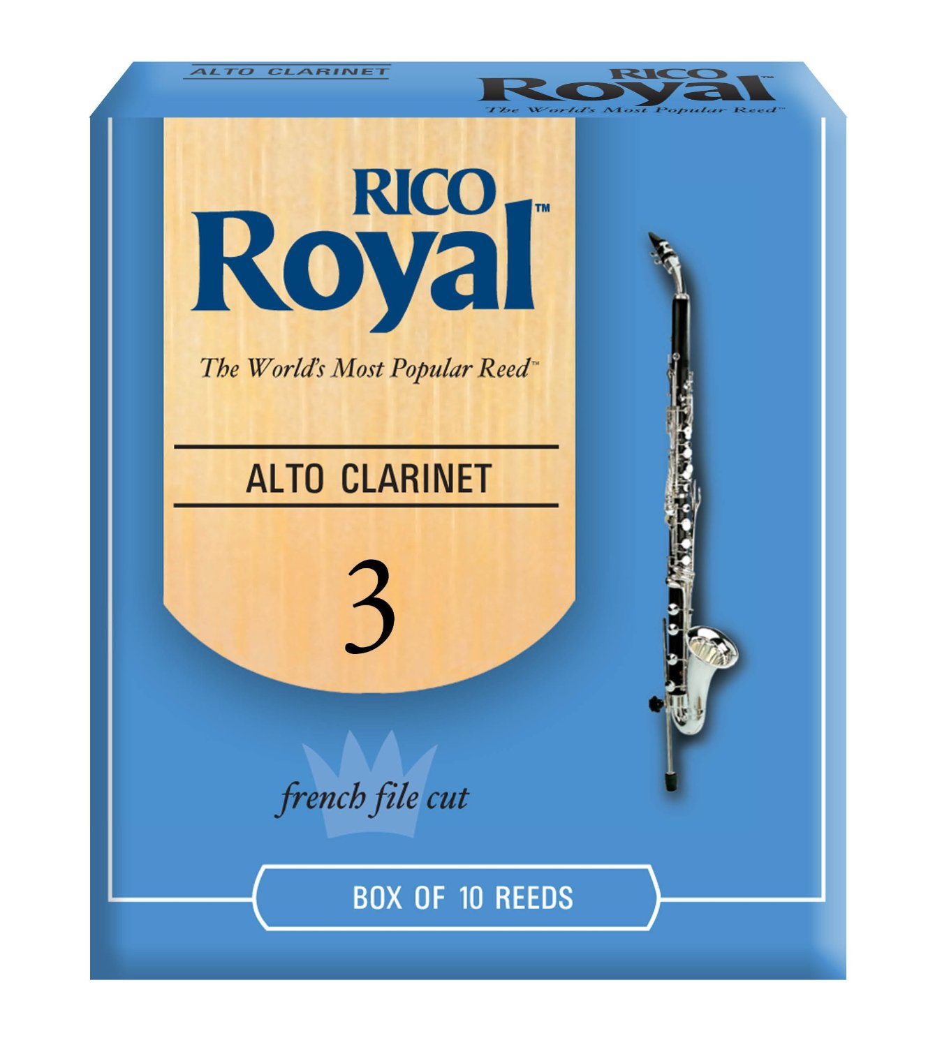 Rico RDB1030 Royal Alto Clarinet Reeds, 10Ct, 3.0 Strength by Rico Royal