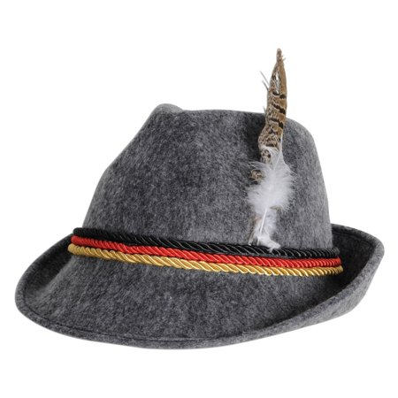 Club Pack of 6 Oktoberfest German Alpine Felt Hat with Feather One Size (Felt Hat With Feather)