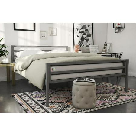 Novogratz Maxwell Metal Bed, (Solid Pine Twin Size Bed)