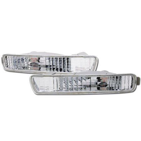 RL Concepts CRYSTAL CLEAR LENS FRONT SIGNAL PARKING BUMPER LIGHTS LAMPS 94-95 HONDA ACCORD