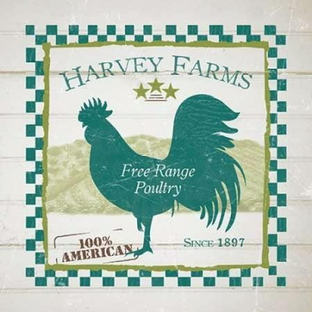 - Harvey Farms Poultry Poster Print by Diane Stimson