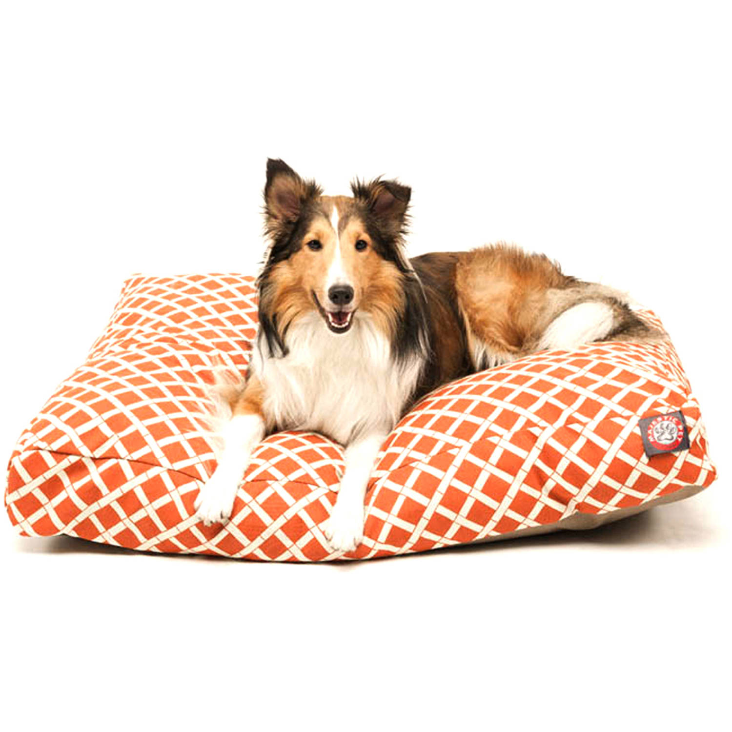 Majestic Pet Burnt Orange Bamboo Rectangle Pet Bed - Multiple Sizes Available