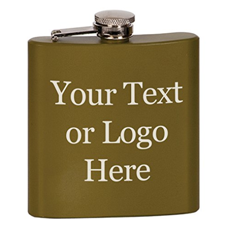 Customized 3D Laser Engraved Personalized 6 oz. Stainless Steel Custom Flask (Matte - Customized Flasks