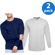 Hanes Men's Beefy Long Sleeve T-shirt, 2 Pack