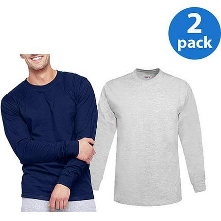 Hanes Mens Beefy Long Sleeve T-shirt, 2 - Beefy Tee Shirts