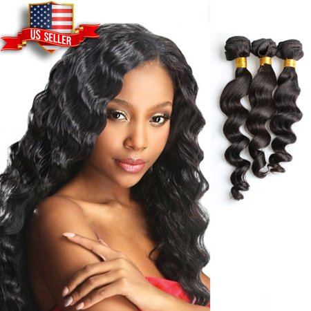 Sensationnel Loose Wave Weave (9A Unique Bargains Brazilian 100% Human Hair LOOSE WAVE Natural Black 20
