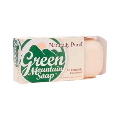 All Vegetable Soap - Unscented by Green Mountain Soap (4.25oz Bar)