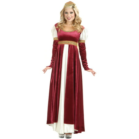Women\'s Lady Of Camelot Renaissance Wine Dress Plus Size 1X-Large 14-16