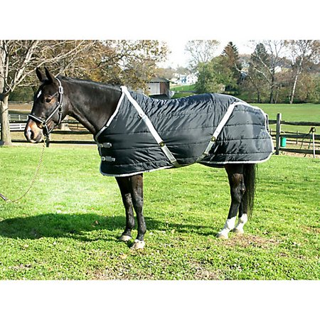 Quilted Pony - Snuggie Quilted Pony Stable Blanket 60In Black/Sil
