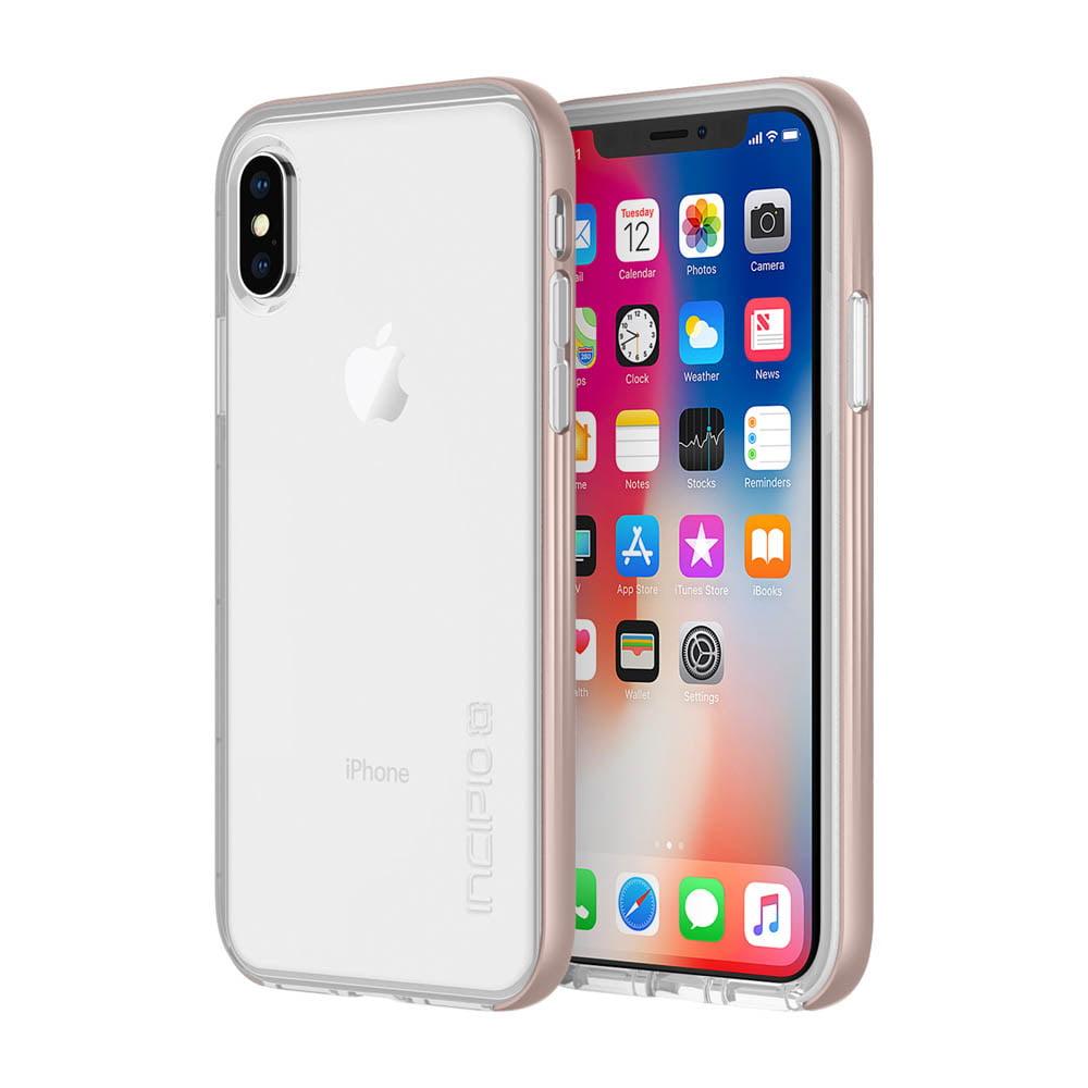 Incipio Octane LUX iPhone X Case with Translucent Interior and Metallic Bumper for iPhone X - by INCIPIO