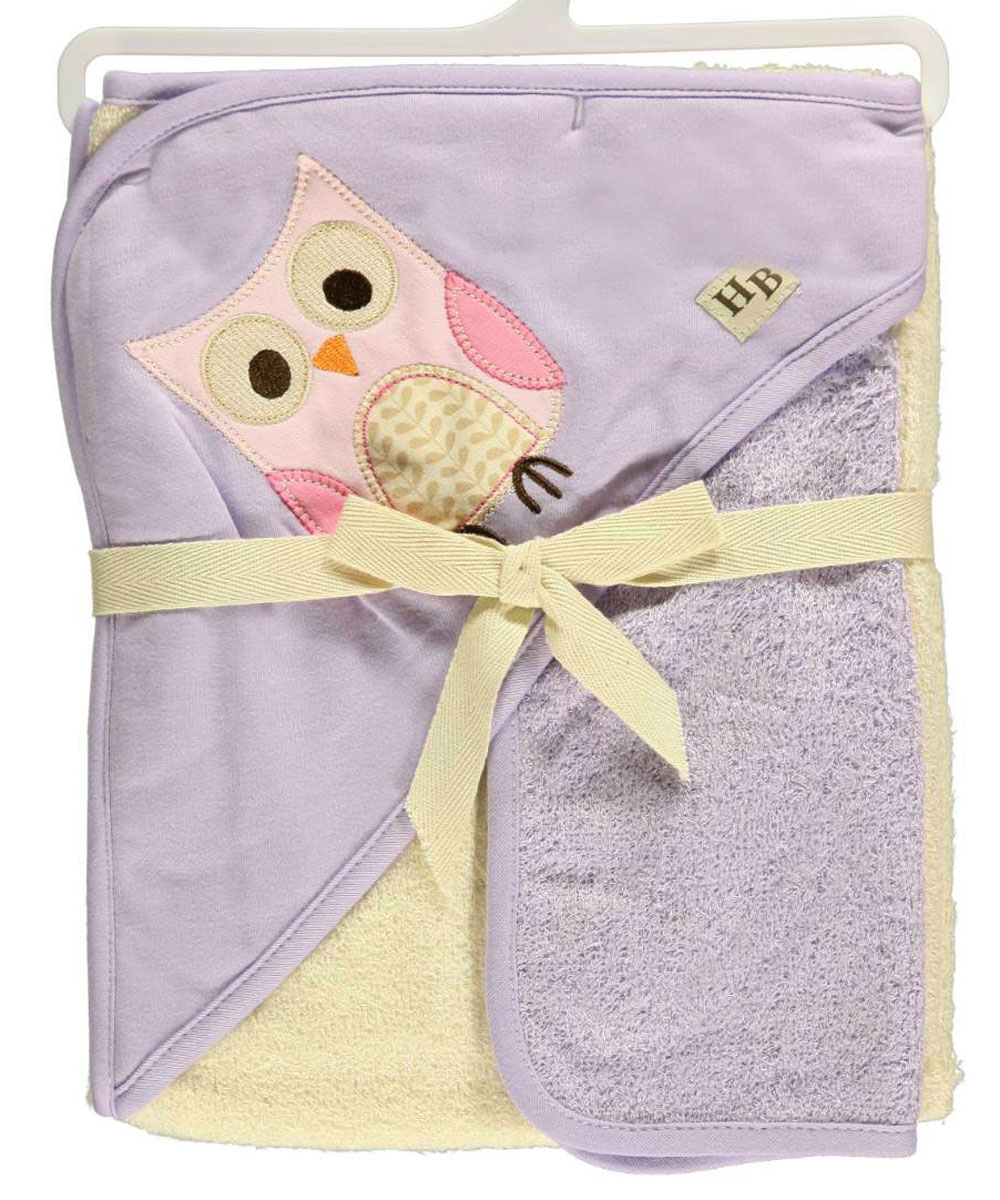 """Owl"" Hooded Towel & Washcloth Set by Hudson Baby"