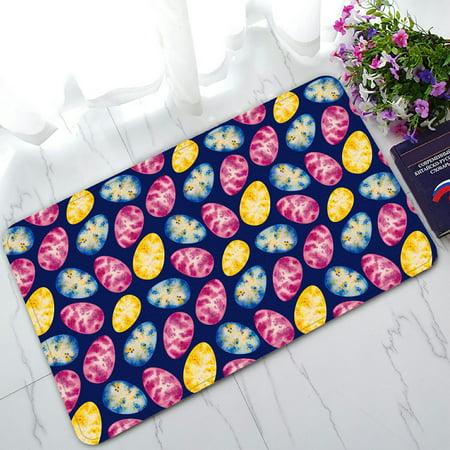 - PHFZK Happy Easter Doormat, Watercolor Easter Egg Blue Doormat Outdoors/Indoor Doormat Home Floor Mats Rugs Size 30x18 inches