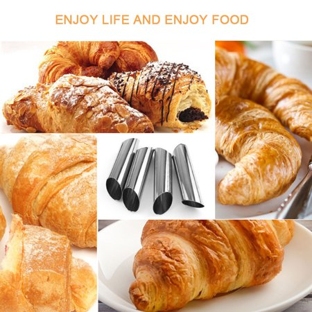 Mini Cannoli Shells - Jeobest Cannoli Forms Stainless Steel - Cannoli Form Tubes - Cannoli Tubes Set - 12 Pack Stainless Steel Cannoli Forms Oneup Croissant Mold Baking Mould Tubes for Croissant Shell Cream Roll MZ