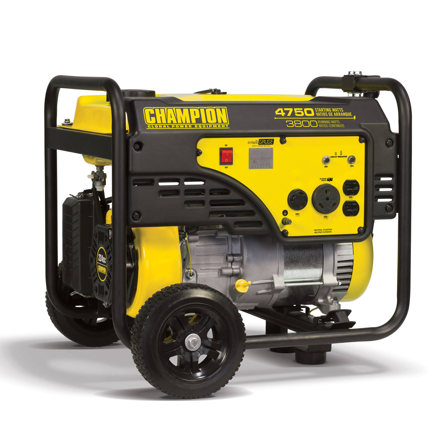 Champion 100103 3800-Watt RV Ready Portable Generator with Wheel Kit